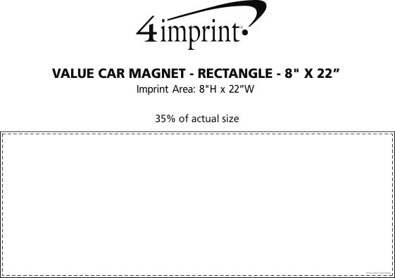 """Imprint Area of Magnetic Car Sign - Rectangle - 8"""" x 22"""""""
