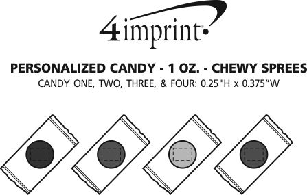 Imprint Area of Personalized Candy - 1 oz. - Chewy Sprees