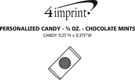 Imprint Area of Personalized Candy - 1/2 oz. - Chocolate Mints