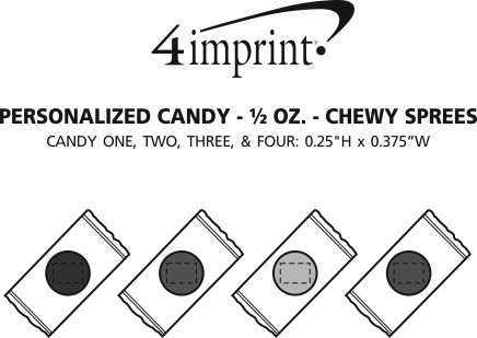 Imprint Area of Personalized Candy - 1/2 oz. - Chewy Sprees