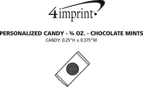 Imprint Area of Personalized Candy - 3/4 oz. - Chocolate Mints