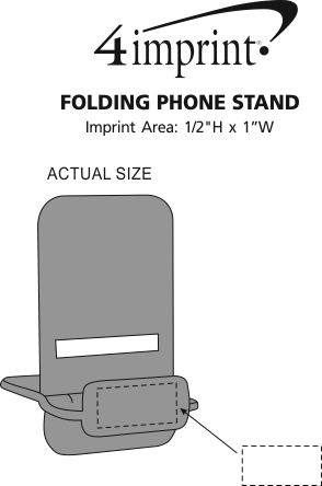 Imprint Area of Folding Phone Stand