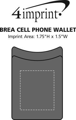 Imprint Area of Brea Cell Phone Wallet