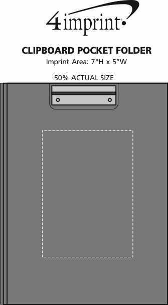 Imprint Area of Clipboard Pocket Folder