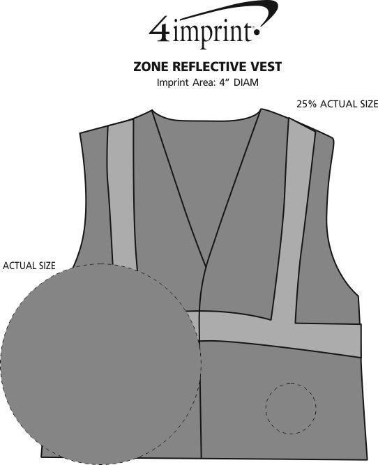 Imprint Area of Zone Reflective Vest
