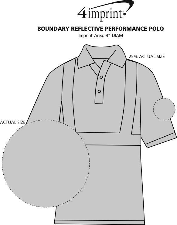 Imprint Area of Boundary Reflective Performance Polo