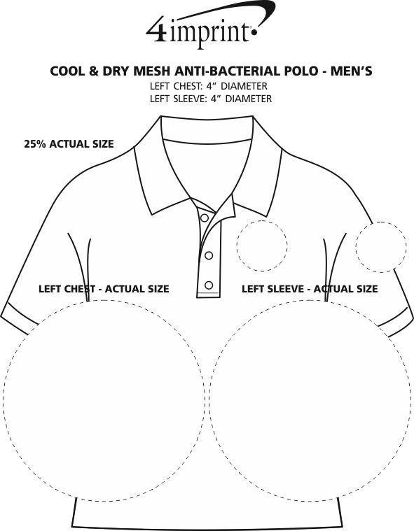 Imprint Area of Cool & Dry Mesh Antibacterial Polo - Men's