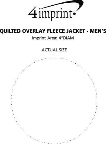 Imprint Area of Quilted Overlay Fleece Jacket - Men's