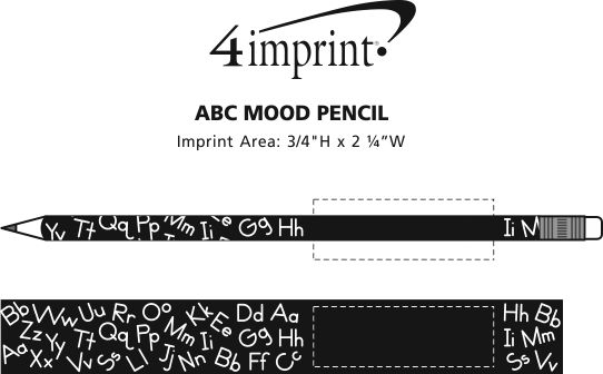 Imprint Area of ABC Shadow Mood Pencil