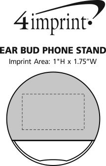 Imprint Area of Ear Bud Phone Stand