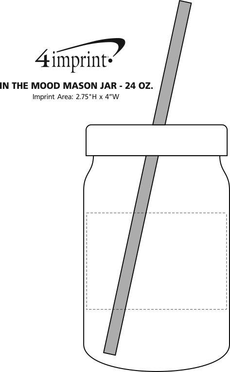 Imprint Area of In the Mood Mason Jar - 24 oz.