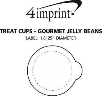 Imprint Area of Treat Cups - Gourmet Jelly Beans