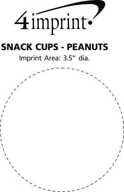 Imprint Area of Snack Cups - Peanuts