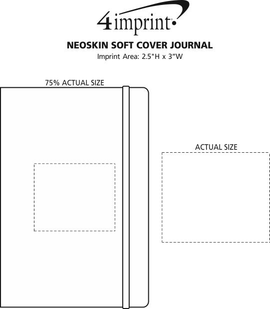 Imprint Area of Neoskin Soft Cover Journal - Debossed