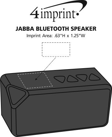 Imprint Area of Jabba Bluetooth Speaker