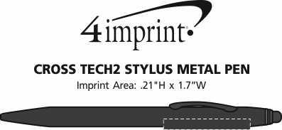 Imprint Area of Cross Tech2 Stylus Twist Metal Pen
