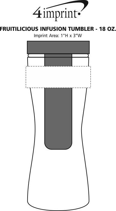 Imprint Area of Fruitilicious Infusion Tumbler - 18 oz.
