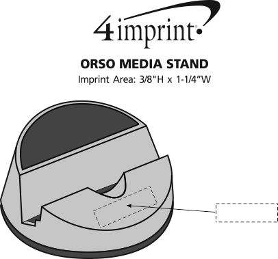 Imprint Area of Orso Media Stand