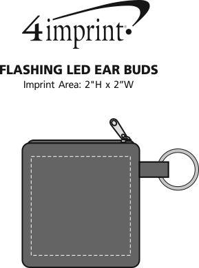 Imprint Area of Flashing LED Ear Buds