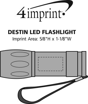 Imprint Area of Destin LED Flashlight