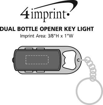 Imprint Area of Dual Bottle Opener Key Light