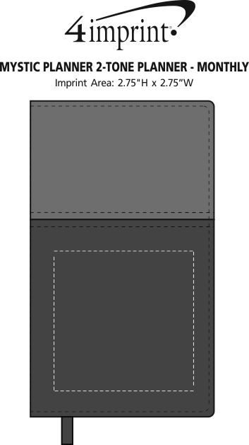 Imprint Area of Mystic Planner 2-Tone Planner - Monthly