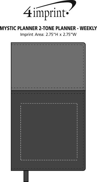 Imprint Area of Mystic Planner 2-Tone Planner - Weekly