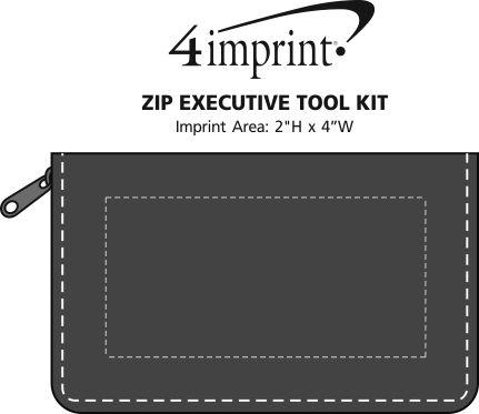 Imprint Area of Zip Executive Tool Kit