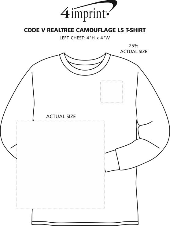 Imprint Area of Code V Realtree Camouflage Long Sleeve T-Shirt