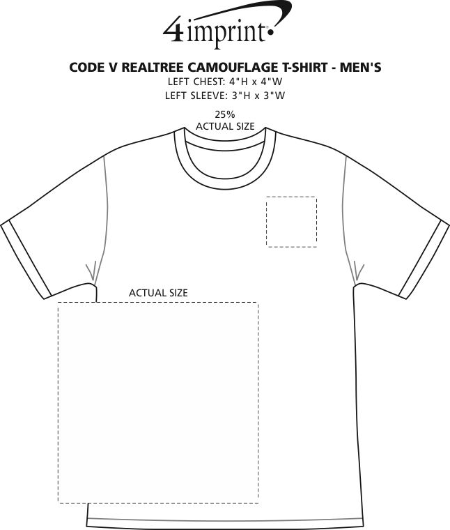 Imprint Area of Code V Realtree Camouflage T-Shirt - Men's