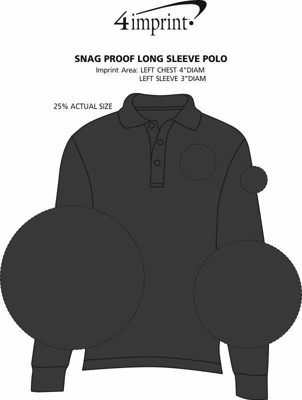 Imprint Area of Snag Proof Long Sleeve Polo
