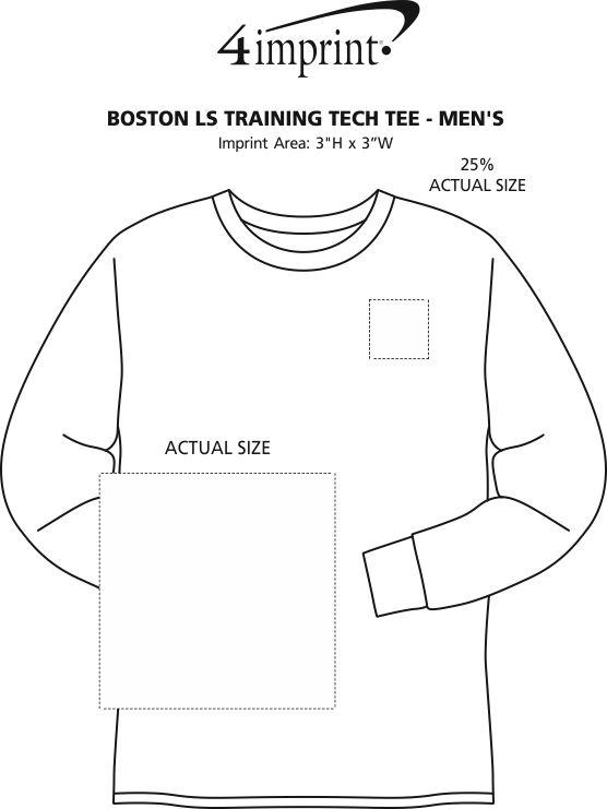 Imprint Area of Boston Long Sleeve Training Tech Tee - Men's