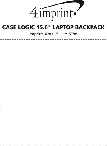 "Imprint Area of Case Logic 15.6"" Laptop Backpack"