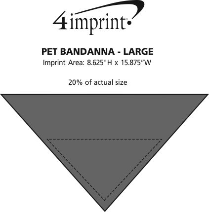 Imprint Area of Pet Bandana - Large