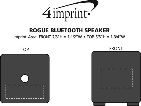 Imprint Area of Rogue Bluetooth Speaker