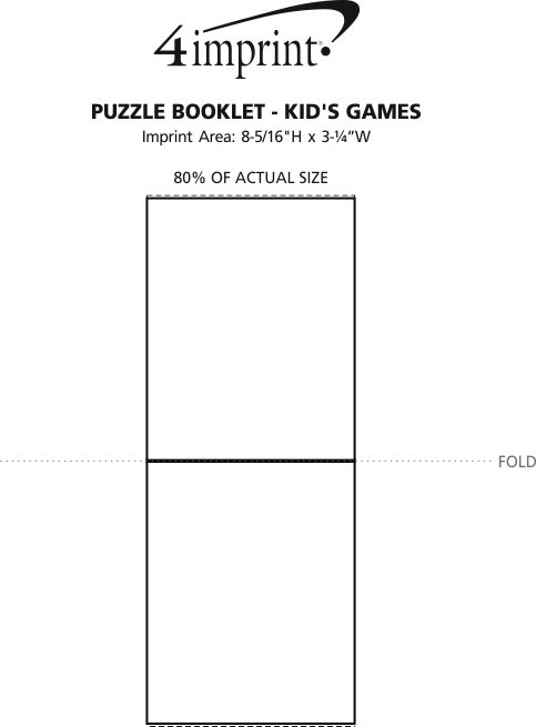 Imprint Area of Puzzle Booklet - Kid's Games