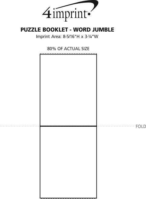 Imprint Area of Puzzle Booklet - Word Jumble