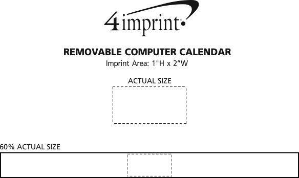 Imprint Area of Removable Computer Calendar