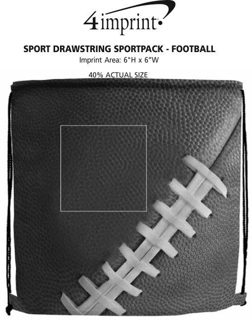 Imprint Area of Sport Drawstring Sportpack - Football