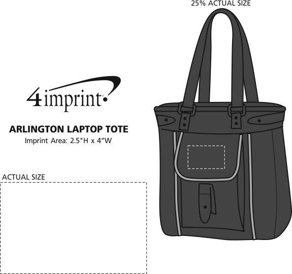 Imprint Area of Arlington Laptop Tote