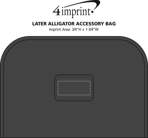 Imprint Area of Later Alligator Accessory Bag
