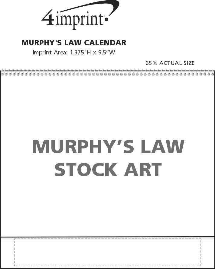 Imprint Area of Murphy's Law Calendar