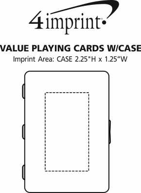 Imprint Area of Value Playing Cards with Case