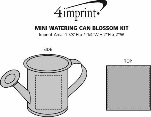 Imprint Area of Mini Watering Can Blossom Kit
