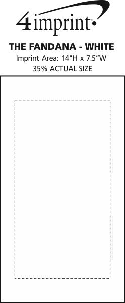Imprint Area of The Fandana - White