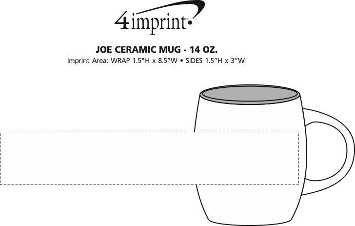 Imprint Area of Joe Coffee Mug - 14 oz.