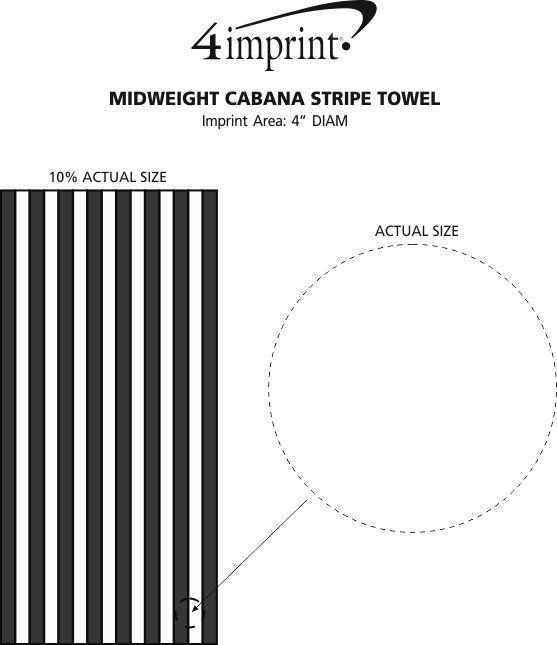 Imprint Area of Midweight Cabana Stripe Towel
