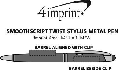 Imprint Area of SmoothScript Stylus Twist Metal Pen