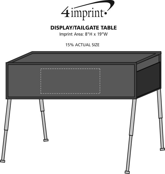 Imprint Area of Display/Tailgate Table