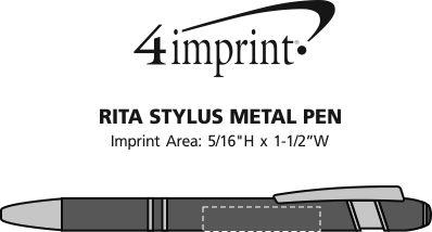 Imprint Area of Rita Stylus Metal Pen
